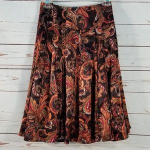 Worthington Womens Skirt Pleated Silky Paisley
